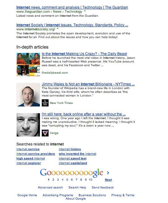 Internetと検索した結果